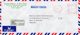 1974 Registered Airmail Envelope  From HONG KONG 5 To Hook Of Holland - Hong Kong (1997-...)