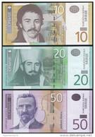 Serbia SET - 10 20 50 Dinara 2005 2006 - UNC - Serbia