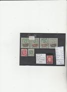 TIMBRES DE SAINT HELENE ANGLAISE  OBLITEREES NEUF * NR VOIR SUR PAPIER ACCOMPAGNANT LES TIMBRES  COTE  188.5€ - Sint-Helena