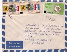 Lettre  ZAIRE  UPA  CONFERENCE CHEFS D ETAT SURCHARGE  /   5566 - Zaïre