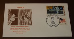 Space  USA Houston  Leasat 4    1990   #cover3526 - Brieven & Documenten