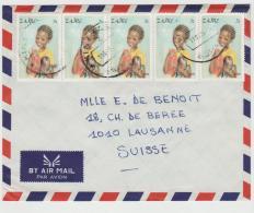 Zaire001 / Bedarfsbrief  Mit Weihnachstmarken 1981, Kinder,  Im 5-er Streifen - Zaire