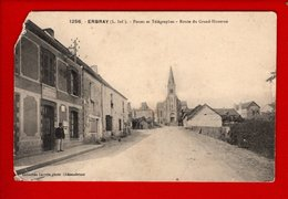 1 Cpa Erbray Postes Et Telegraphe Route Du Grand Huverne - Otros Municipios