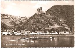 St. Goarshausen M. Burg Katz - Fotokarte Verlag Foto Nassau, St. Goarshausen - Neu - Schiff - St. Goar
