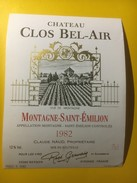 3560 -  Château Clos Bel-Air 1982 Montagne-Saint-Emilion - Bordeaux