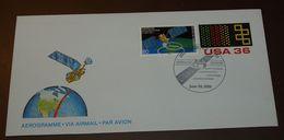 Space USA Satellite Station Houston  1986   #cover3533 - Brieven & Documenten