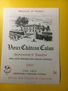 3561 -  Vieux Château Calon  1980 Montagne-Saint-Emilion - Bordeaux