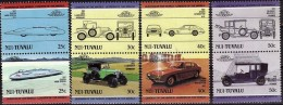 NUI TUVALU Automobiles, Voitures, Cars, Coches, Serie XI Complete  **  MNH - Coches