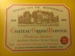 3567 -  Château Grand Monteil 1979 - Bordeaux