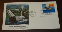 Space USA Shuttle Returning To Earth   #cover3534 - Briefe U. Dokumente