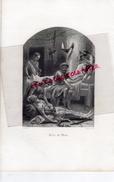 GRAVURE XIXE SIECLE- SCENE DE MORT  - CASTELLI - HOPWOOD SCULPTEUR - - Estampes & Gravures
