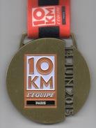 Médaille Marathon : 10 Km L'Equipe Paris : 14 Juin 2015 - France