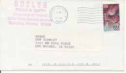 USA Cover Phonix AZ. 27-1-1994 Sent To Iowa With Olympic Games Stamp - Covers & Documents