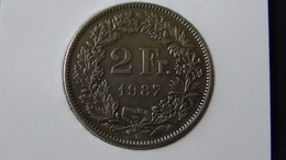 Switzerland - 1987 - 2 Franken - KM 21a - VF - Look Scans - Schweiz