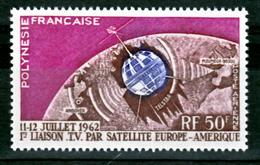 Polynésie PA   6 Satellite Communications  Neuf ** MNH Sin Charmela Cote 14