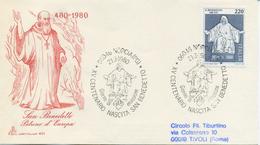 ITALIA - FDC CAPITOLIUM 1980 - SAN BENEDETTO PATRONO D´EUROPA - ANNULLO MARCOFILO NORCIA - 1946-.. Republiek