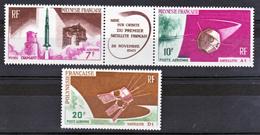 Polynésie PA  18 A 19 Satellite Fusées  Neuf ** MNH Sin Charmela Cote 23.5