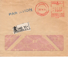 1971 Registered Airmail Envelope From BEYROUTH - Libanon