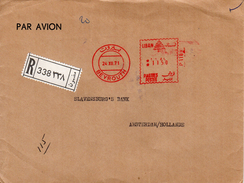 1971 Registered Airmail Envelope From BEYROUTH To Amsterdam - Libanon