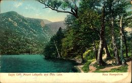 N°2943 QQQ 55  EAGLE CLIFF MOUNT LAFAYETTE AND ECHO LAKE NEW HAMPSHIRE PLOYCHROMIE - White Mountains