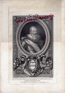 GRAVURE XIXE SIECLE - MAXIMILLIEN DE BETHUNE- 62- PRINCE SOUVERAIN D' ENRICHEMONT ET DE BOIS BELLES-DUC DE SULLY - Estampes & Gravures