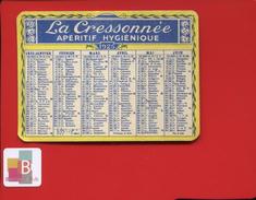 Rare Calendrier Petit Format La CRESSONNEE La Cressonnée Apéritif 1925 - Petit Format : 1921-40