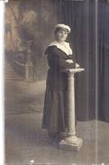 """JEUNE FEMME PORTE CASQUETTE """" EQUIPAGE"""" Et Veste Marine   CARTE PHOTO  PARIS SUCCES   E. MEUNIER TOULON - Guerre, Militaire"""