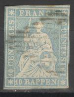 Schweiz 14II O Altsignatur Franz - Oblitérés