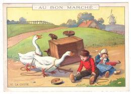 (Chromos) 035 2, Au Bon Marché, VI, La Chute, Hollande Oie - Au Bon Marché