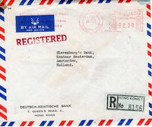 1971 Registered Airmail Envelope From HONG KONG 1 To Amsterdam - Hong Kong (1997-...)