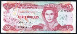 BAHAMAS 3 DOLLAR 1974 (1984) F-FV P-35b  (free Shipping Via Regular Air Mail (buyer Risk) - Bahamas