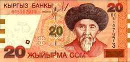 KIRGHIZISTAN 20 SOM De 2002nd  Pick 19  UNC/NEUF - Kirghizistan