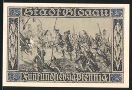 Billet De Nécessité Glogau In Schlesien 1920, 75 Pfennig, Prinz Leopold Von Dessau, Die Preussen Erstürmen Die Stadt - Lokale Ausgaben