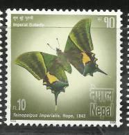 NEPAL,2006,Bio Diversity  Imperial Butterfly,  Butterflies, MNH ,(**) - Mariposas