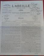 Police Assurance Contre L'Incendie L'ABEILLE  1er Avril 1906 Exploitation Viticole Givry (Saône Et Loire) - Banque & Assurance
