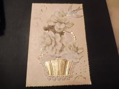 Carte Fait Main Bouquet De Fleurs Hirondelle De 1952 - Belgique