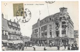 18 - BOURGES - Place Planchat - Editions EMB E. Maquaire N° 554 - 1920 - Bourges