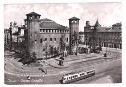 TORINO - PIAZZA CASTELLO -  VIAGGIATA 1963 - (478) - Piazze