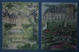France 2011 : Jardins De France, Les Jardins De Cheverny N° 4580 à 4581 Oblitéré - France
