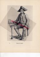 COSTUMES  FRANCE XIXE S.-43- PAYSAN DE LANGEAC - IMPRIMERIE F. PAILLART ABBEVILLE PARIS 1932- - Estampes & Gravures
