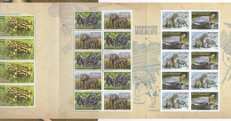 AUSTRALIA, 2016, MNH,CONCERTINA PACK, FROGS, TURTLES,LEOPARDS, ELEPHANTS,SPECIAL SHEETLET AVAILABLE ONLY IN THIS FOLDER - Tortues