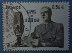 France 2010  : 70e Anniversaire De L´appel Du 18 Juin 1940 N° 4493 Oblitéré - France