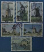 France 2010 : Les Moulins N° 4485 à 4490 Oblitéré - France