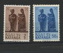 KATANGA : ART -  N° Yvert 54+56** - Katanga