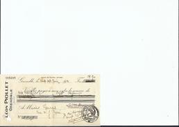 Ref 23/ 38, Grenoble, Piollet, 1921, Pour Pontcharra Sur Bréda 38 - Bank & Versicherung