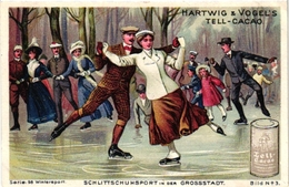10 Trade Cards Ice-Skating Patinage Sur Glace Eislaufen PUB Amidon Hartwig & Vogel Brasserie Cassegrain Black Minstrel - Sports D'hiver