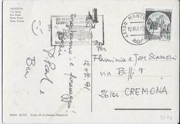"""ANNULLO A TARGHETTA """"50° ANNIVERSARIO VIGILI DEL FUOCO"""" 1991 ORNAGHI 3298 UFF. MANTOVA SU CARTOLINA MANTOVA - 6. 1946-.. Repubblica"""