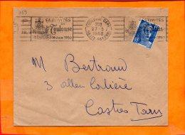 HTE GARONNE, Toulouse, Flamme SCOTEM N° 169, Festivités De Toulouse 14 Juin 1953 - Marcophilie (Lettres)