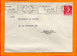 HTE GARONNE, Toulouse, Flamme SCOTEM N° 375Ab, La Fourrure La Plus Belle Des Parures - Storia Postale