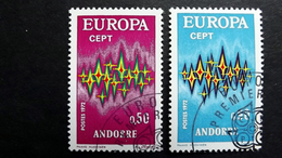 Andorra 238/9 Oo/ESST, EUROPA/CEPT 1972